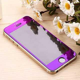 iPhone6Plus/6s Plus パープル 液晶強化ガラス保護フィルム P(モバイルケース/カバー)