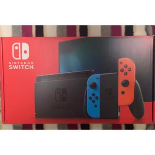 ニンテンドースイッチ(Nintendo Switch)のニンテンドースイッチ 新型 ネオンブルー・ネオンレッド(家庭用ゲーム機本体)
