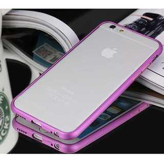 iPhone6plus/6splus パープル アルミバンパー 金属 バンパー(モバイルケース/カバー)