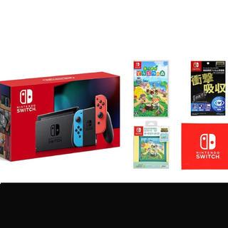 ニンテンドースイッチ(Nintendo Switch)の【新品未使用】Nintendo Switch 本体&あつまれどうぶつの森 セット(家庭用ゲーム機本体)