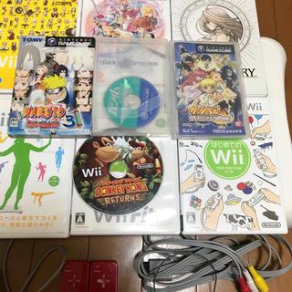 ウィー(Wii)のwii本体、wiiフィットボード、ゲームキューブ他セット(家庭用ゲーム機本体)