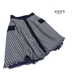 アクシーズファム(axes femme)の◆axes femme/アクシーズファム◆レディース M 美品♪フレアースカート(ひざ丈スカート)