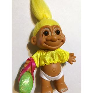 ◆美品◆ RUSS ラス TROLL トロール人形 イエロー(キャラクターグッズ)