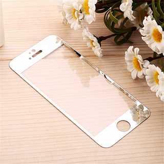 iPhone6Plus/6s Plus シルバー 液晶強化ガラス保護フィルム P(モバイルケース/カバー)