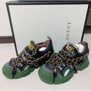 グッチ(Gucci)の【新品】GUCCI フラッシュトレック 6ハーフ 宝石付き(スニーカー)