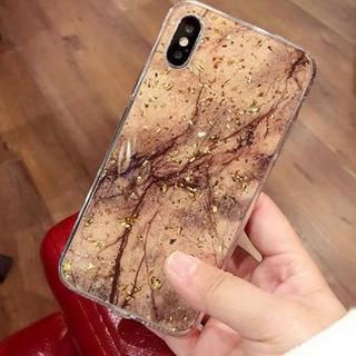 【iphone7/8 ダークブラウン】大理石風ケース(iPhoneケース)
