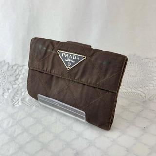 プラダ(PRADA)の❤セール❤ プラダ 財布 折り財布 ブラウン レディース メンズ ブランド 茶色(折り財布)