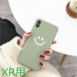 【iphoneXR用 】グリーン スマイリーニコちゃん柄(iPhoneケース)