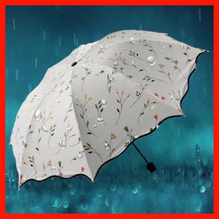 晴雨兼用 折りたたみ傘 小花 コンパクト アンブレラ 紫外線ケア 紫外線予防(傘)