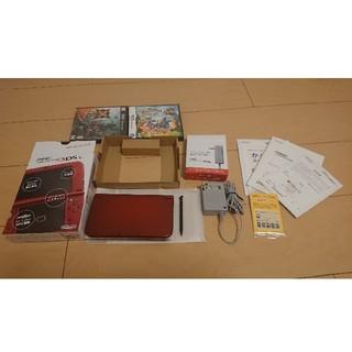 Newニンテンドー3DS LL+ソフト2本(携帯用ゲーム機本体)