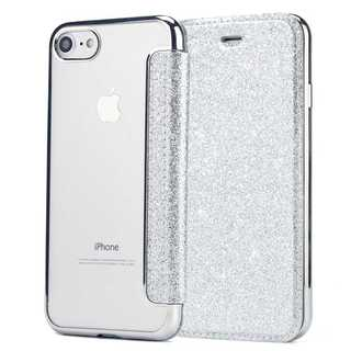 ベルト無し グリッター iPhone8/7 手帳型 アイフォンケース(iPhoneケース)