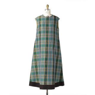 Drawer - 《新品未使用》Drawer別注〈Scye(サイ)〉マドラスチェックドレス 36