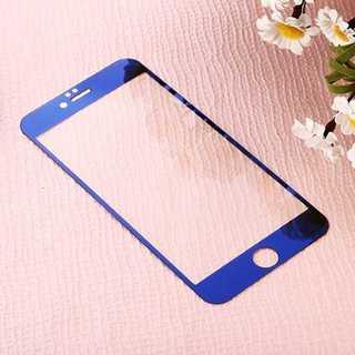 iPhone6Plus/6s Plus 青 液晶強化ガラス保護フィルム Powe(モバイルケース/カバー)