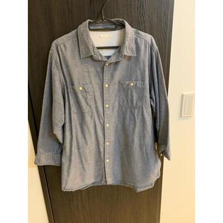 ジーユー(GU)のgu 7部丈シャツ デニムカラー メンズXLサイズ(Tシャツ/カットソー(七分/長袖))