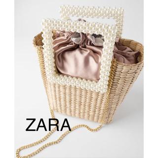 ZARA - ZARA フェイクパール バケットバッグ