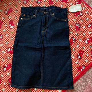 アールジーン(Earl Jean)のかわいい濃いデニムスカート 激安!新品未使用☆(ひざ丈スカート)