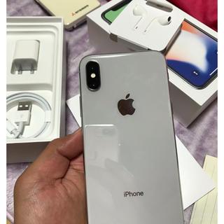 アイフォーン(iPhone)のiphone x 64 gb silver シルバー(スマートフォン本体)