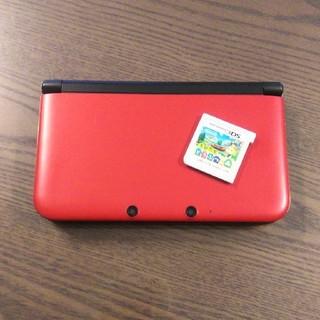 ニンテンドー3DS(ニンテンドー3DS)の3DSLL  レッド  とびだせどうぶつの森 セット(携帯用ゲーム機本体)