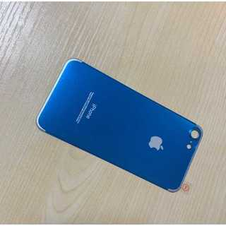iPhoneSE第2世代 ブルー 背面 チタンフレーム(モバイルケース/カバー)