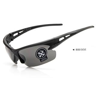 黒色 割れない スポーツサングラス UV400夜視鏡☆サイクリング ランニング (その他)