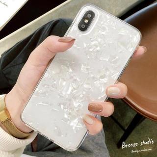 iPhone7plus/8plus ホワイトiPhoneケース シェル 透明(iPhoneケース)
