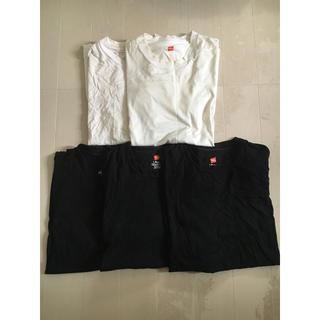 ビューティアンドユースユナイテッドアローズ(BEAUTY&YOUTH UNITED ARROWS)のユナイテッドアローズ ビューティ&ユース × ヘインズ 5枚セット  L 黒白(Tシャツ/カットソー(半袖/袖なし))