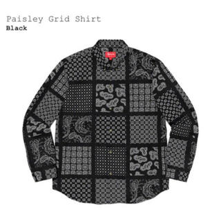 Supreme - Lサイズ SUPREME Paisley Grid Shirt