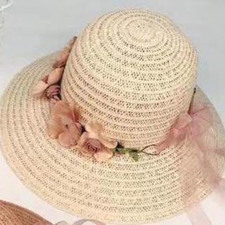 可愛い女優帽(麦わら帽子/ストローハット)