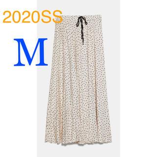 ZARA - *2020SS*ZARA ドット柄 プリーツ スカート