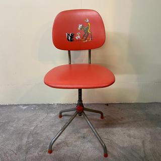 ディズニー(Disney)の昭和レトロ ポップ ディズニー 回転式 学習デスク 子供椅子 チェア バンビ (デスクチェア)