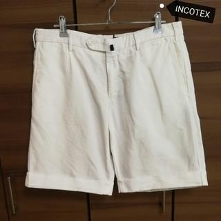 インコテックス(INCOTEX)の美品 INCOTEX インコテックス ショートパンツ CHINOLINO ホワイ(ショートパンツ)