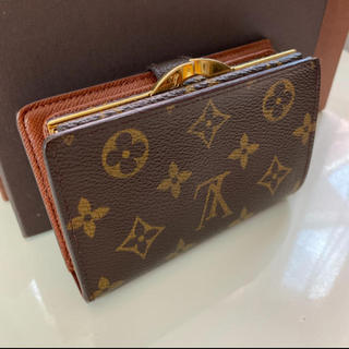 LOUIS VUITTON - 正規品ルイヴィトンがま口 折財布