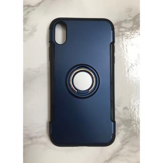 iPhone11 カッコいい リング付き 軽量耐衝撃ケース ブラック 黒(iPhoneケース)