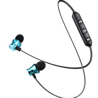 Bluetooth ブラックイヤホンワイヤレスブルートゥースヘッドセットSQ(ヘッドフォン/イヤフォン)