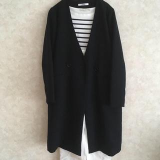 JOURNAL STANDARD - 【美品】ジャーナルスタンダード レリューム  ノーカラー ロングジャケットコート