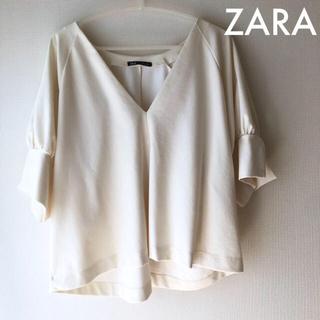 ZARA - 日曜までSALE♡ZARA  白カットソー