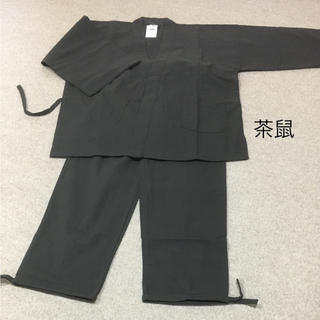 創作木綿 作務衣  茶鼠 Mサイズ(着物)