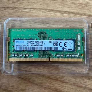 SAMSUNG - SAMSUNG DDR4 2400 SODIMM メモリ 4GB