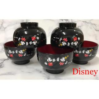 ディズニー(Disney)の可愛いミッキーデザインの小ぶりなお椀 5個(食器)