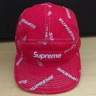 Supreme - Supreme デニム キャップ 赤