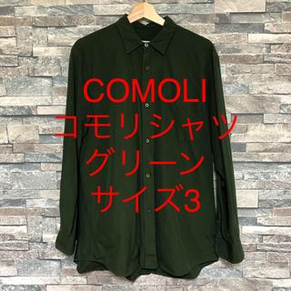 COMOLI - COMOLI コモリシャツ グリーン コモリ