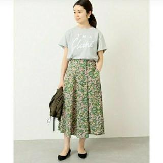 IENA - イエナ♡フラワープリントスカート 38