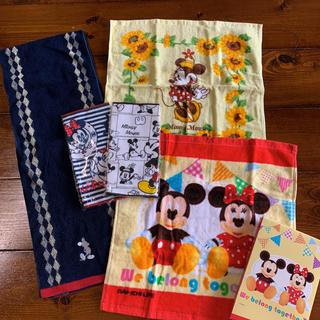 ディズニー(Disney)のディズニー ミッキー ミニー タオルセット 5枚 新品未使用(その他)