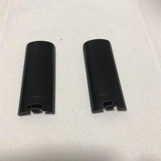 ウィー(Wii)のWiiリモコン 裏蓋 黒 電池カバー(家庭用ゲーム機本体)