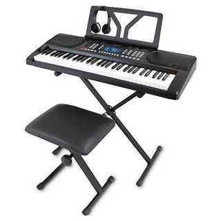 ブラックONETONE ワントーン 電子キーボード 61鍵盤 初心者セット ピッ(キーボード/シンセサイザー)