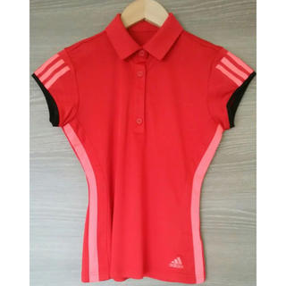 アディダス(adidas)のアディダス レディース ゴルフウェア ポロシャツ  美シルエット 難あり 格安で(ウエア)