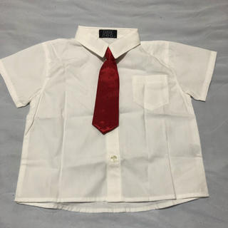 Super neo⭐︎フォーマルシャツネクタイ付き半袖白シャツ95cm(ドレス/フォーマル)