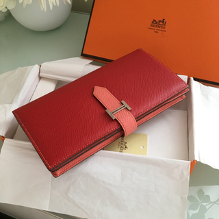 Hermes - エルメス ベアン  長財布 バイカラー 美品