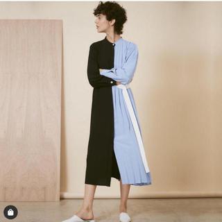 LE CIEL BLEU - ルシェルブルーハーフプリーツドレス