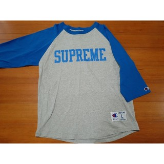 Champion - 美品 チャンピオン ラグラン Tシャツ 7分丈 七分丈 ブルー グレー 青